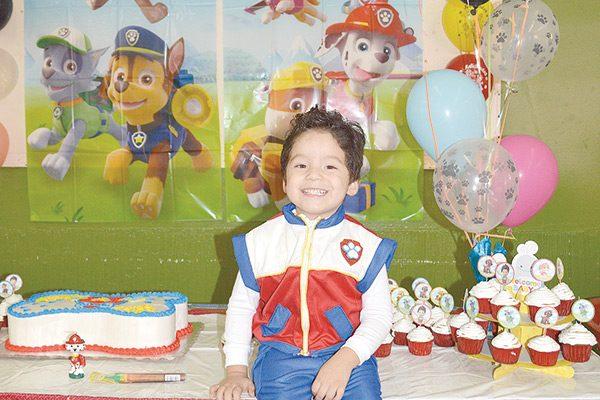 Apagó su tercer velita Jorge Yahir Rosario Guerra