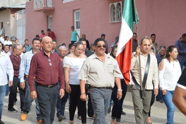 Ing. Noel Chávez, encabeza evento cívico en Dolores, Guadalupe y Calvo