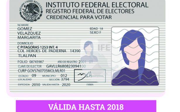 Vencerán un total de 7 mil 198 credenciales de elector con terminación 18