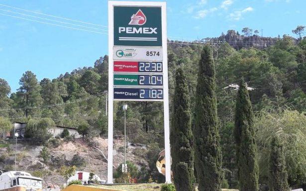 Chihuahua 2º lugar en el país con la gasolina más cara