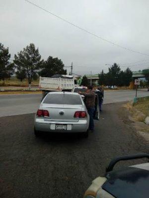 Choque alcance en distribuidor vial que da acceso a la avenida niños héroes