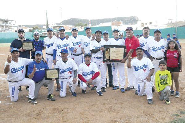 Deportivo Giorgio-Chiquitico Palma, bicampeón del beisbol súper máster
