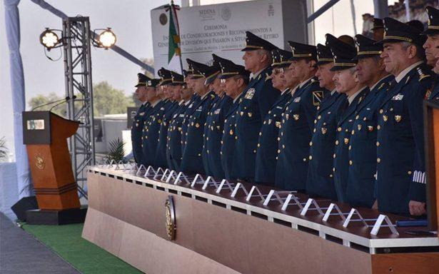 Sedena toma protesta a nuevos altos mandos militares