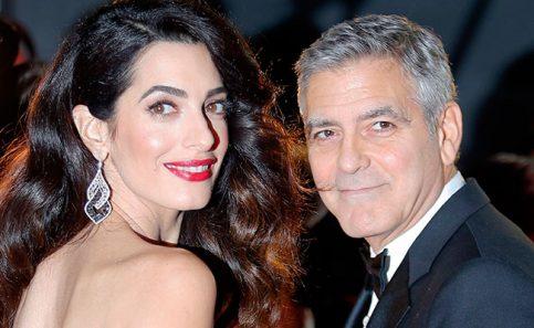 Amal Clooney presume su embarazo por primera vez