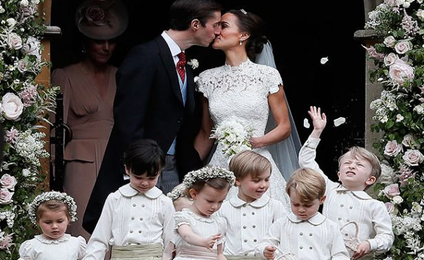 Principitos Jorge y Carlota derraman ternura en boda de Pippa Middleton