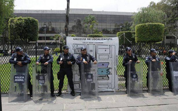 Blindan San Lázaro previo a entrega de informe presidencial