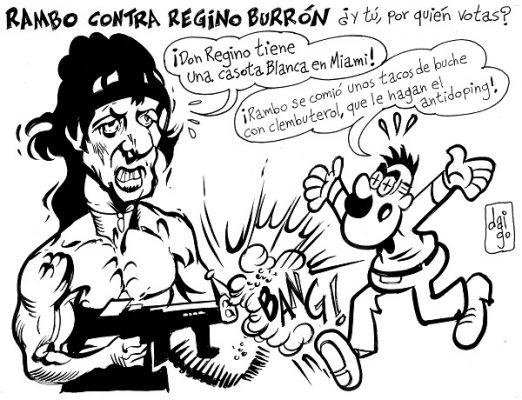 Rambo contra regino burrón