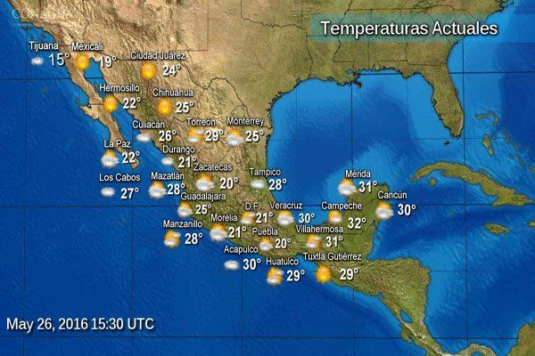 El clima en Puebla, jueves 26 de mayo