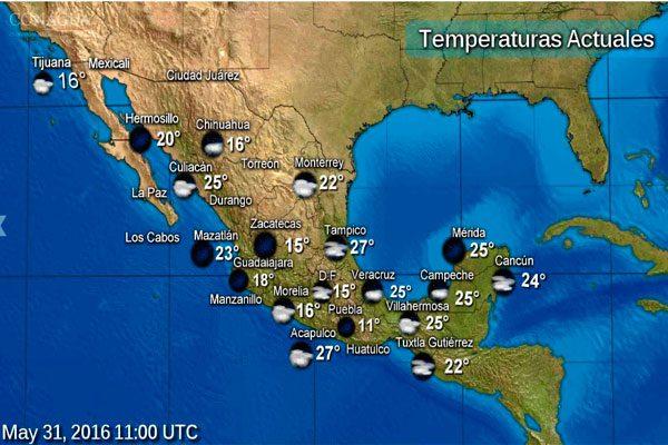 Hoy se esperan fuertes lluvias por la Onda tropical No. 1