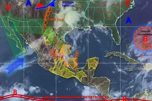 Este viernes se esperan lluvias fuertes en la capital poblana