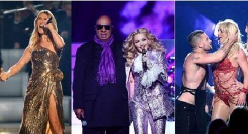 Madonna, Britney Spears y Celion Dion se roban los Bilboard