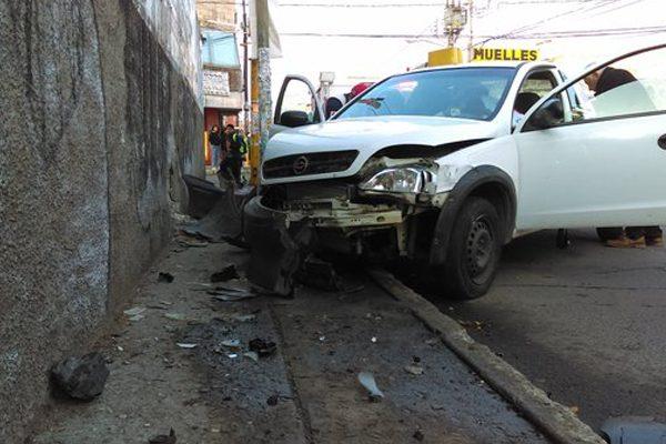 Resulta lesionada, mujer de la tercera edad, en aparatoso accidente