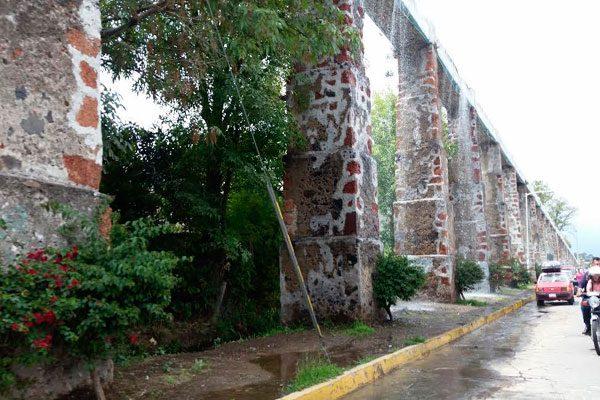 Acueducto de Atlixco, se encuentra en el abandono