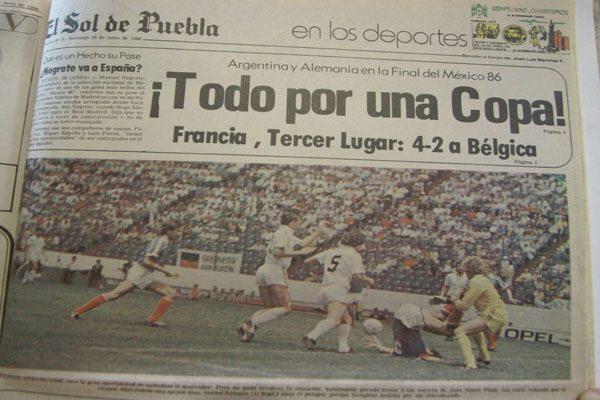 Hace 30 años se jugó en Puebla el tercer lugar del mundial