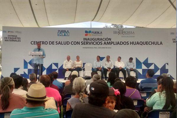 Huaquechula ya cuenta con un nuevo Centro de Salud de Servicios Ampliados