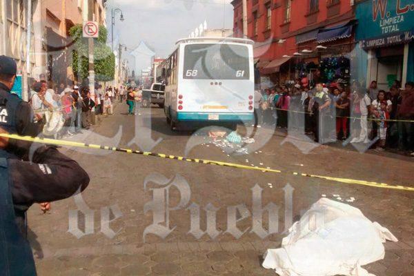 Conductor de Ruta 68 mata a sexagenario en el Centro Histórico
