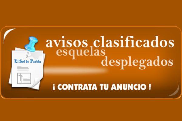 Contrata un espacio publicitario en El Sol de Puebla