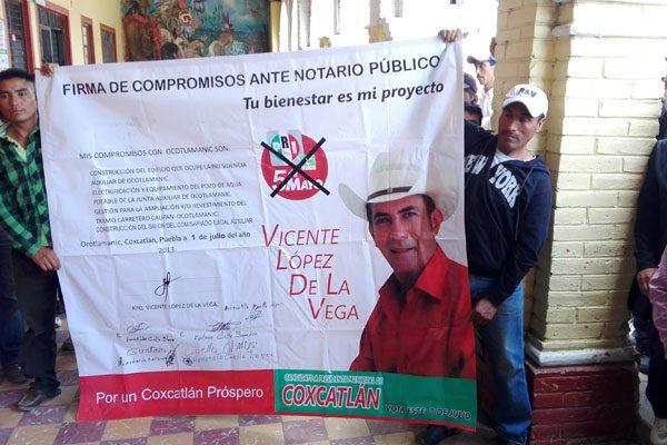 Doblegan a edil de Coxcatlán para cumplir promesas de campaña