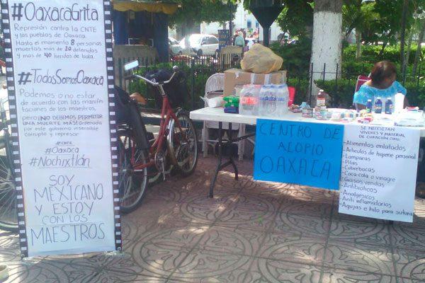 Reactiva colectivo recaudación de  víveres para maestros de Oaxaca