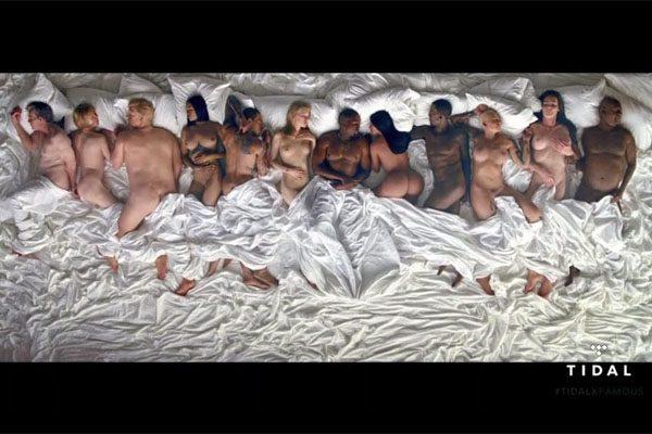 Escandaloso videoclip de Kanye West
