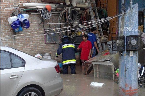 Colonias del Sur sufren estragos por lluvia