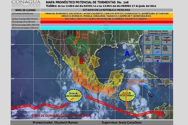 Lluvias vespertinas afectarán a Puebla, salga con paraguas