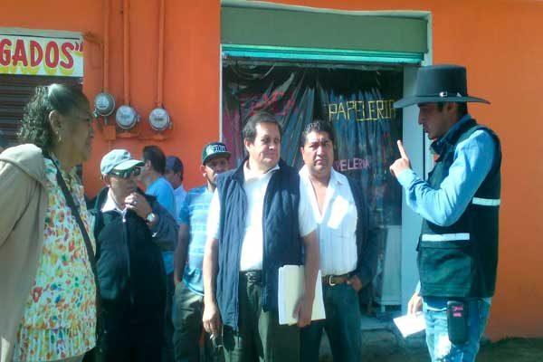 Exigen a edil de Texmelucan agilizar obras en Avenida Libertad