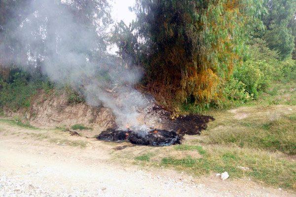 """Hallan a hombre """"ardiendo"""" en Cuapiaxtla de Madero"""