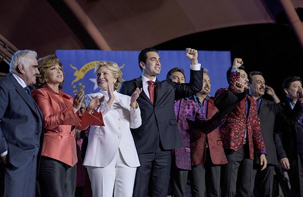 Vicente Fernández y Tigres del Norte acudieron a la fiesta de Clinton