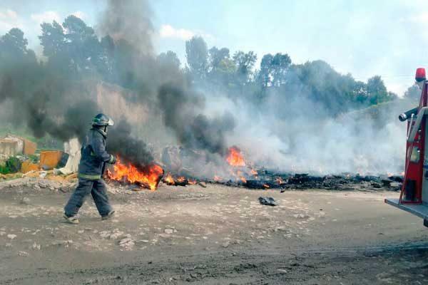 Dos incendios registrados en Puebla dejan un lesionado