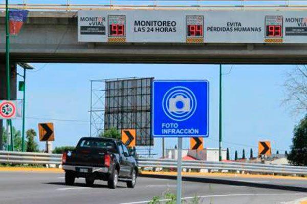 Aplicarán en Puebla fotomultas a vehículos emplacados en otros estados