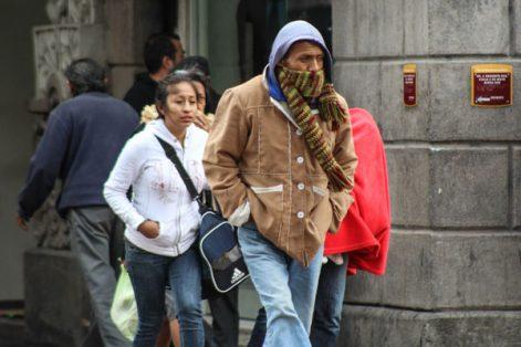 Viento y frío, el clima en Puebla