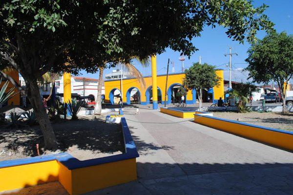Plaza central de Tehuitzingo, municipio perteneciente a la Mixteca poblana