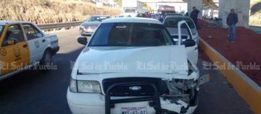 Colisión múltiple deja cuatro heridos en la autopista México – Puebla