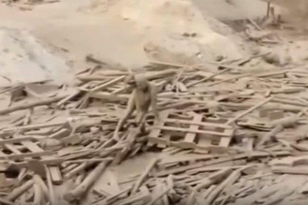 [Video] Mujer emerge de una avalancha de lodo