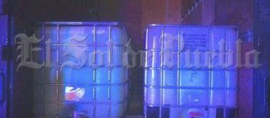 Decomisan más de mil litros de combustible robado en Atlixco