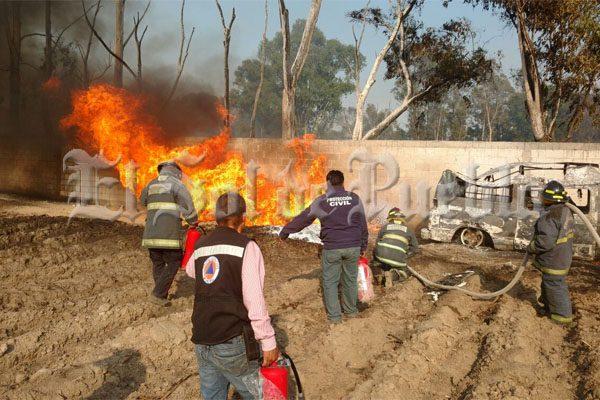 No hay detenidos tras incendio de toma clandestina en Chachapa: SSP