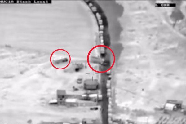 [VIDEO] Con dron captan convoy huachicolero; hacen fila para cargar combustible