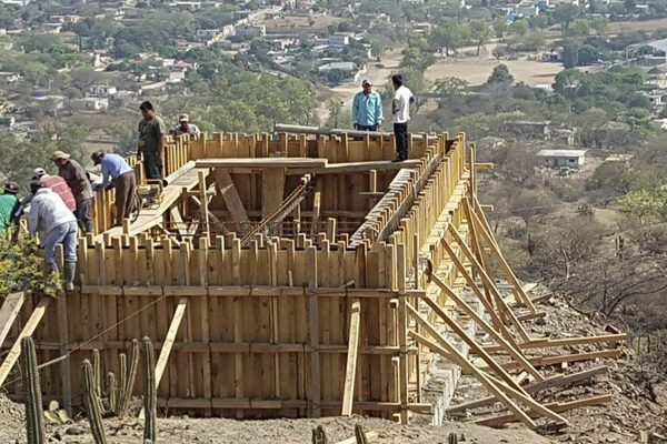 Al 80% obras del tanque de agua en La Noria, Tehuitzingo