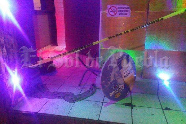 Balacera en un bar deja un muerto en Texmelucan