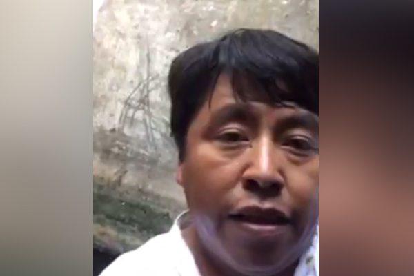 [Video] Diputado de Puebla queda atrapado en pozo y lo transmite por Facebook Live
