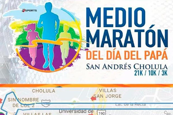 A correr para  festejar a Papá, en el medio maratón