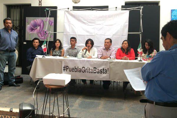 #PueblaGritaBasta!, es el movimiento perredista que protesta contra la delincuencia