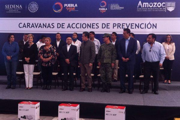 Inauguran Séptima Caravana de Acciones de Prevención en Amozoc