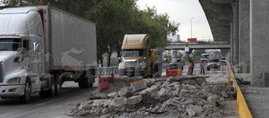 Escombros abandonados en la México-Puebla ocasionan tres accidentes