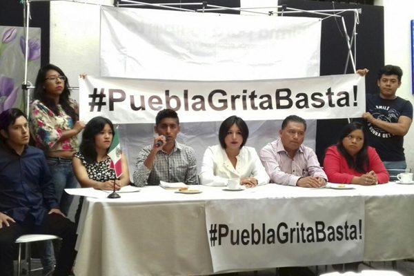 Con iniciativa #PueblaGritaBasta!, exigen mano firme contra la delincuencia