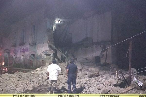 Se desploma casona en San Martín Texmelucan