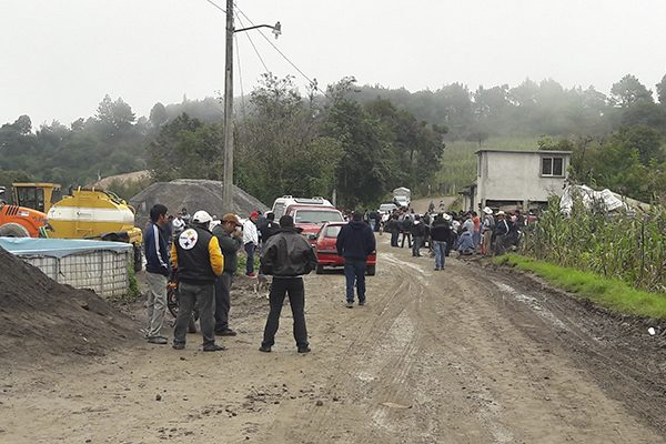 Pobladores de Chignautla impiden construcción del Arco Sur