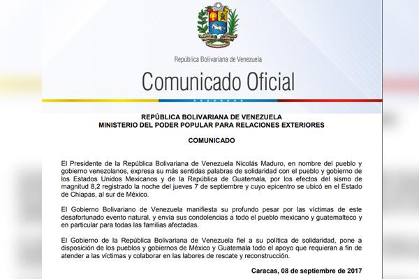 Uruguay expresa su