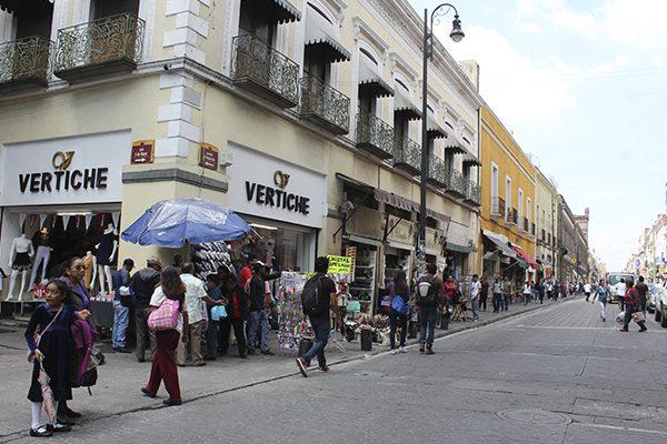 Seguirá hasta diciembre el corredor comercial del centro de Puebla